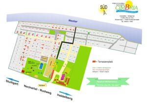 Campingplatz Cimbria Platzplan